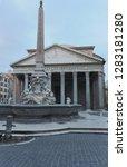 view of pantheon basilica in... | Shutterstock . vector #1283181280