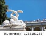 statues in the piazza del... | Shutterstock . vector #1283181286