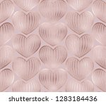 rose gold glitter knitted... | Shutterstock . vector #1283184436