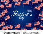 president's day design of... | Shutterstock .eps vector #1283194033