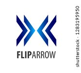 flip arrow logo concept design. ...   Shutterstock .eps vector #1283195950