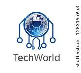technology world logo concept...   Shutterstock .eps vector #1283195953