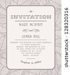 wedding invitations and... | Shutterstock .eps vector #128320316