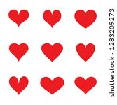heart icons set isolated on... | Shutterstock .eps vector #1283209273