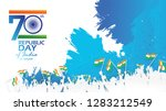 happy indian republic day... | Shutterstock .eps vector #1283212549