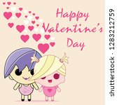 valentines day card... | Shutterstock .eps vector #1283212759