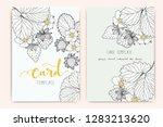 wedding invitation  floral... | Shutterstock .eps vector #1283213620