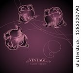 abstract luxurious vintage... | Shutterstock .eps vector #1283220790