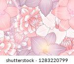 bright summer seamless pattern...   Shutterstock .eps vector #1283220799