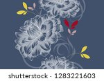 abstract  seamless hand drawn...   Shutterstock .eps vector #1283221603