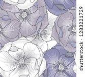 seamless beautiful bright...   Shutterstock .eps vector #1283221729