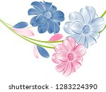 floral pattern  with abstract... | Shutterstock .eps vector #1283224390