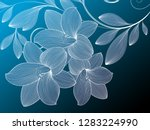 abstract  hand drawn floral... | Shutterstock .eps vector #1283224990