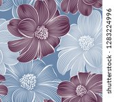 seamless floral pattern with...   Shutterstock .eps vector #1283224996