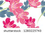seamless floral pattern with... | Shutterstock .eps vector #1283225743