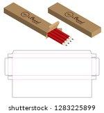 box packaging die cut template...   Shutterstock .eps vector #1283225899