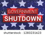 government shutdown text with... | Shutterstock . vector #1283231623
