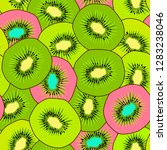 kiwi seamless pattern. endless... | Shutterstock .eps vector #1283238046