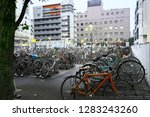 bicycle parking space           ... | Shutterstock . vector #1283243260