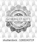 genuine quality realistic grey... | Shutterstock .eps vector #1283243719