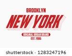new york modern typography... | Shutterstock .eps vector #1283247196