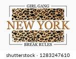 new york slogan typography on... | Shutterstock .eps vector #1283247610