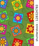 flower background | Shutterstock . vector #128324783