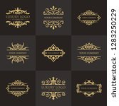 luxury logo template | Shutterstock .eps vector #1283250229