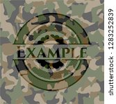 example camouflage emblem | Shutterstock .eps vector #1283252839