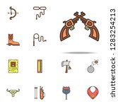 revolvers colored icon. wild... | Shutterstock .eps vector #1283254213