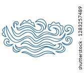 sea waves. vector illustration | Shutterstock .eps vector #1283257489