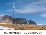 high altitude solar energy and... | Shutterstock . vector #1283259289