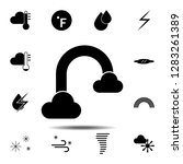 cloud rainbow icon. simple...