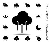 cloud rain icon. simple glyph...