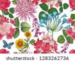 field and garden flowers.... | Shutterstock .eps vector #1283262736
