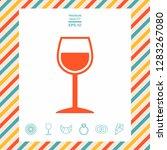 wineglass symbol icon. graphic... | Shutterstock .eps vector #1283267080