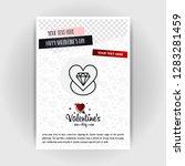 valentine's day love poster... | Shutterstock .eps vector #1283281459