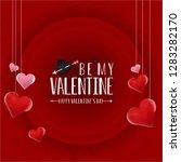 happy valentine's day red...   Shutterstock .eps vector #1283282170
