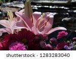 pink flower florist bouquet... | Shutterstock . vector #1283283040