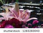 pink flower florist bouquet... | Shutterstock . vector #1283283043