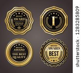 golden badge collection.... | Shutterstock .eps vector #1283285809