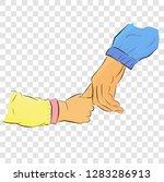 vector flat color hand draw... | Shutterstock .eps vector #1283286913