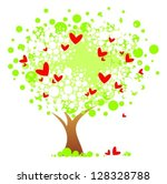 stylized tree with hearts...