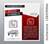 happy valentine's day red icon... | Shutterstock .eps vector #1283290066