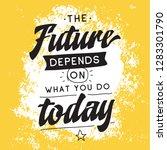 inspirational quote  motivation.... | Shutterstock .eps vector #1283301790