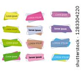flat design banners ribbon... | Shutterstock .eps vector #1283304220