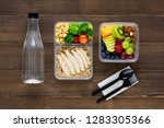 healthy nutritious packed lunch ... | Shutterstock . vector #1283305366