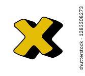 cross  multiplication sign  3d... | Shutterstock .eps vector #1283308273