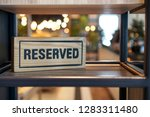 reserved sign. reserved wooden...   Shutterstock . vector #1283311480