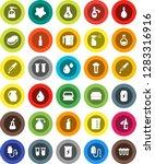 white solid icon set  sponge... | Shutterstock .eps vector #1283316916
